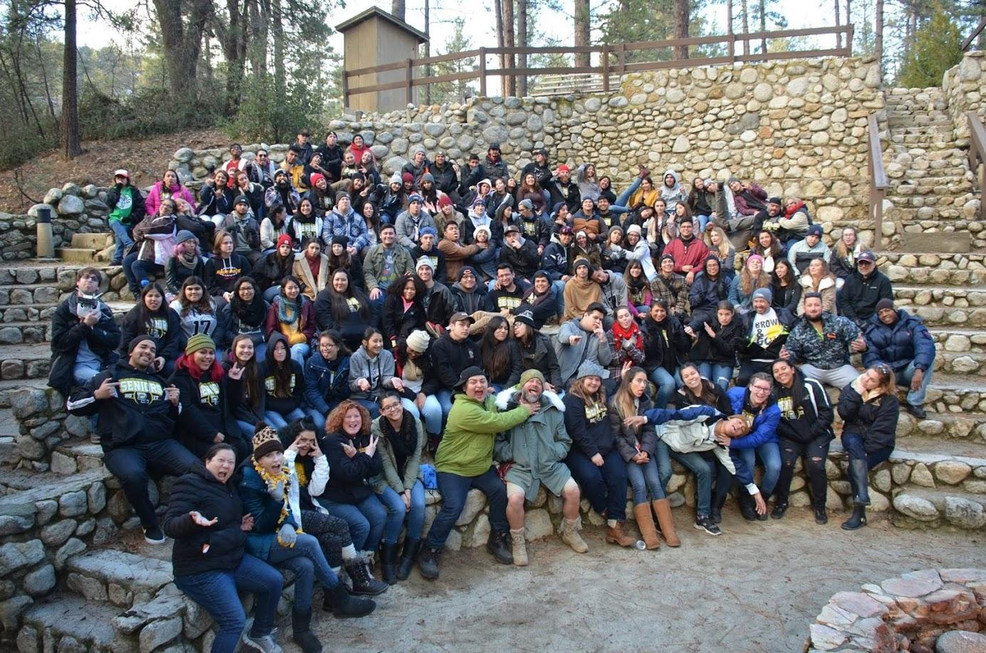 The Class of 2017 and staff members that attended this years senior retreat.
