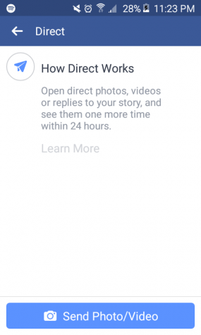 Facebook replicates a story feature similar to other apps, but no one is using it.