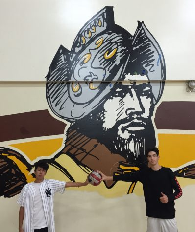Here are two of the three Don Lugo Boys' Volleyball team captains Ernie Noguez and Andrew Partida.