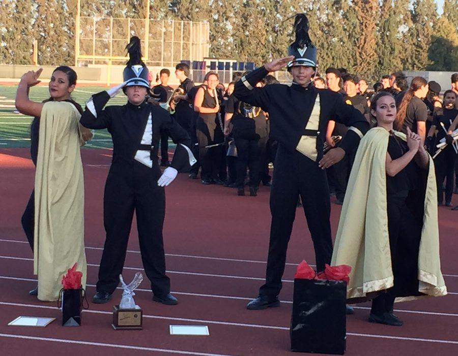 The Don Lugo Marching Band and their Color Guard took First Place at the annual Vista Murrieta  Tournament of Gold. Their field show Case Closed is filled with lots of props, theatrics, and great music. The Don Lugo Marching Band is excited to display what they have to offer at their next competition.