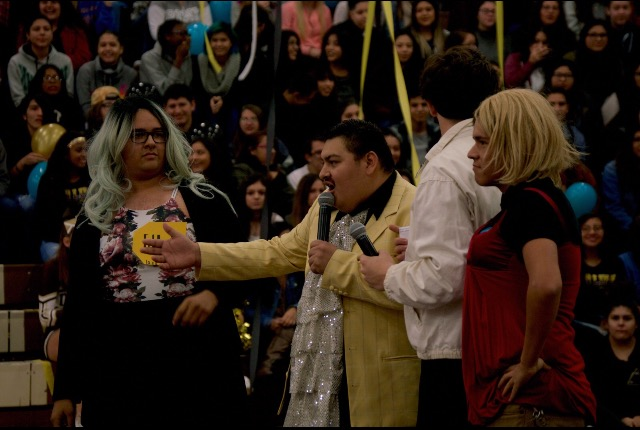 The rally was composed of games, dancing and the prom theme announcement. The