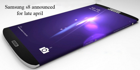 Samsung announced a new phone, the Samsung S8, and it is speculated to out perform the new iPhones. After being announced to being released in later April it is likely that it will be less of an