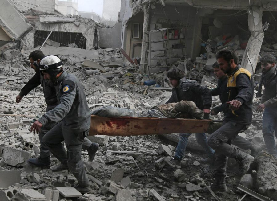 Destruction+litters+the+street+of+Eastern+Ghouta+as+Syrian+president%2C+Bashar+al-Assad%2C+orders+air+strike+attacks+and+bombings+on+innocent+lives.+Picture+from+Public+Domain.