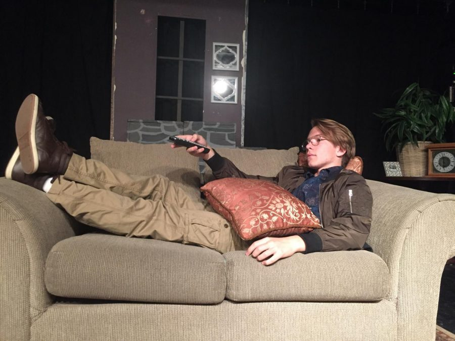 Eddie Lillie, one of the three actors to play the lead role of Eric, A.K.A. the couch potato. Photo courtesy of Karly Ortiz.