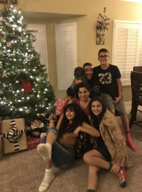 The+Cruz+family+celebrating+Christmas