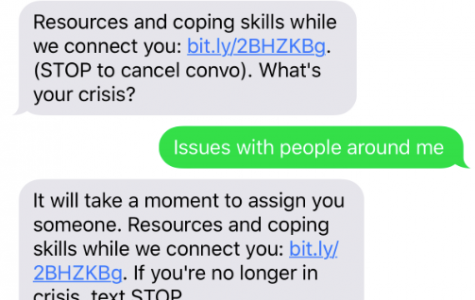 Crisis text line: Helping out those in times of need