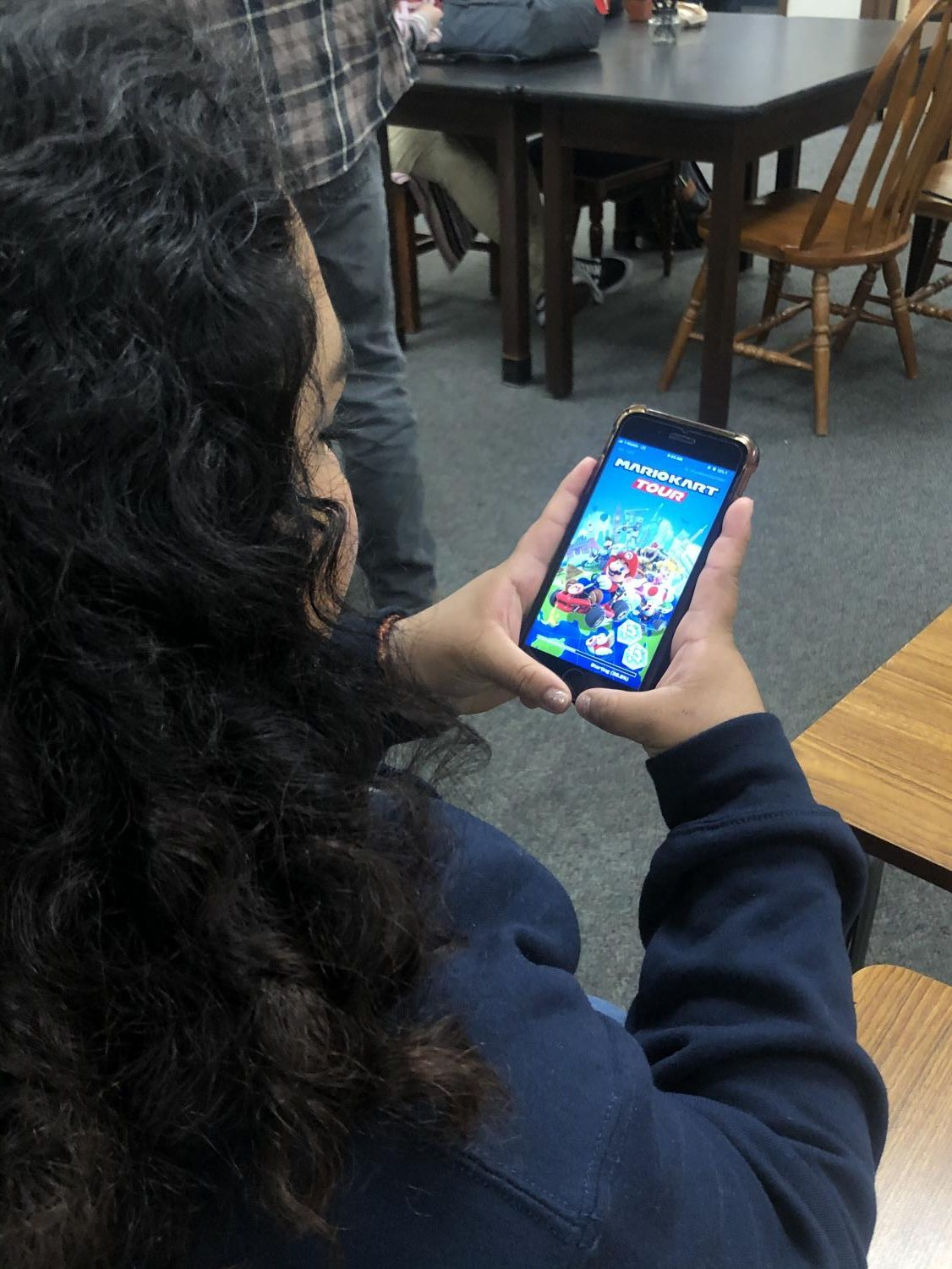 Many students on campus have the Mario Kart app on their phones which lets them play whenever they want to.