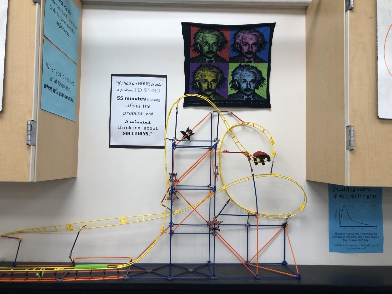 Physics project in Mr.Woods classroom. Photo Courtesy of Saslaya Baca.