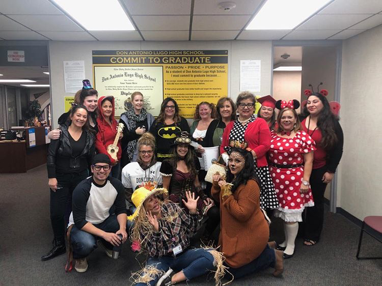 Office staff getting into the Halloween spirit this year. They decided to show their love for the holiday by dressing up.