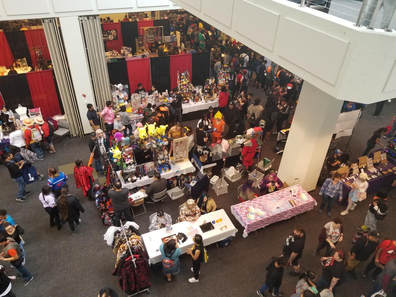 Anime Pasadena Anime & Nerd Convention 2019. The main convention hall at the Pasadena Convention Center.