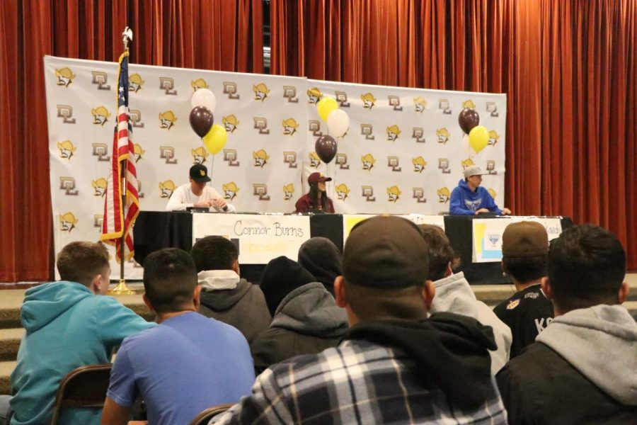 Lugo athletes sign their letters of intent