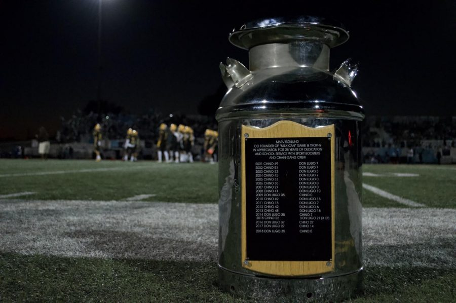 The Milk Can. The prized possession Don Lugo wants to keep and Chino wants to take home. They fight heard for four quarters to determine which rival earns the trophy.