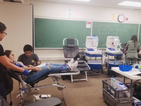 The Lifestream blood drive in room 10. Students 15 and over were able to donate blood if they met the requirements.