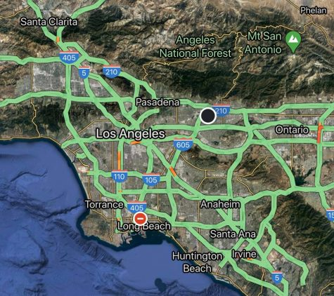 Southern California freeways are known for being full of traffic bound freeways, but not today. Roads are clear on major freeways, an indication that Southern Californians are heading early warnings and staying home.