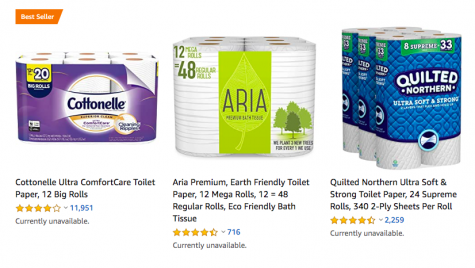 "Amazon consumers are seeing the ""currently unavailable"" message when looking for toilet paper."