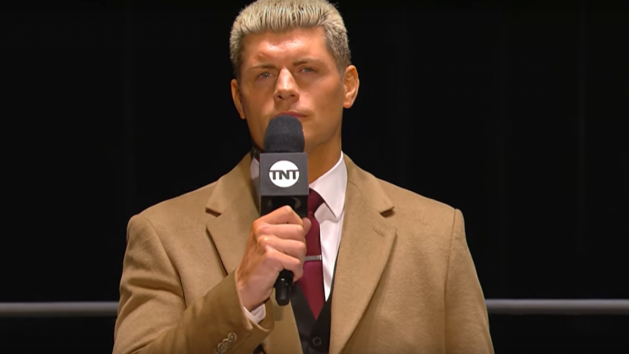 AEW+Executive+Vice+President+and+Wrestler%2C+Cody+Rhodes+opens+the+Empty+Arena+edition+of+March+18%2C+2020+episode+of+AEW+Dynamite+with+a+message+to+people+watching+at+home.+