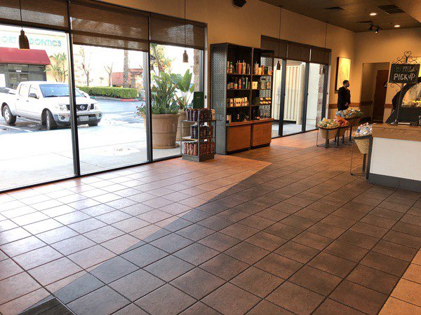 Seeing a Starbucks without anywhere to sit is a bit stunning, but it is all in the interest of public health.