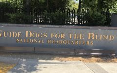The front sign of the Guide Dogs for the Blind San Rafael campus. Where the dogs that are being raised by puppy raisers will go to receive official guide dog training. (Photo courtesy: Jazmine Coto)