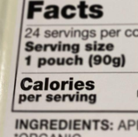 The number of Calories is present on the Nutrition Facts of a box of snacks. For people on weight loss or gain journeys, calories may be something they check often when purchasing food.