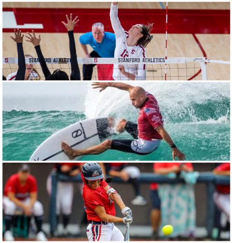 Kathryn Plummer (Top), Kelly Slater (Middle), Sierra Romero (Bottom)   (Photo Courtesy of stanforddaily.com, olympics.nbcsports.com, demarini.com)