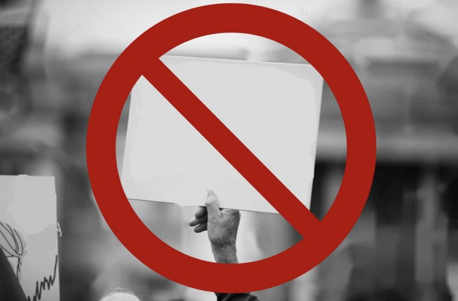 Person holding blank sign while protesting. (Photo Courtesy of Pexels.com)