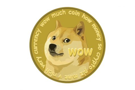 "Newly updated ogo of Dogecoin cryptocurrency created on December 6, 2013. Dogecoin created by Billy Markus and Jackson Palmer, was initially released to ""create an instant and fun payment system for users around the world to use."""