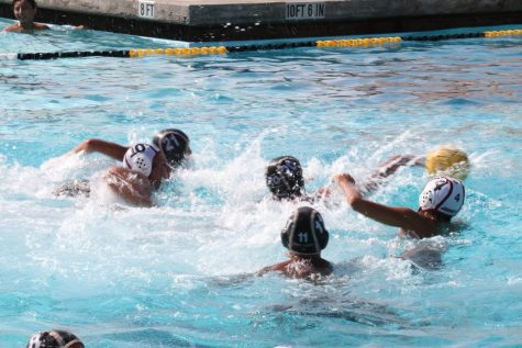 Don Lugo boys water polo team playing one of their non-league games as they prepare for the season. We are striving to get better as a team and make a comeback on our season, says Erik Valle, 11