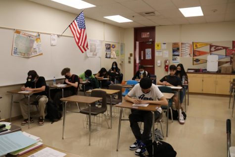 Work study students get their homework and classwork completed while in class. Emilio Vera, a senior in work study, says, It is a lot of work but at the end it made me more responsible for the future