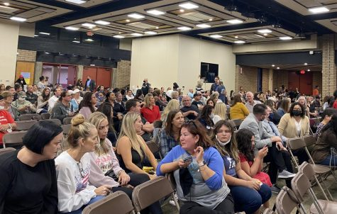 Many parents and community members take their seats awaiting the commence of the CVUSD board meeting. The School Board meetings are usually held at the district office, with the exception of October 21 when the meeting was held in Don Lugos MPR.