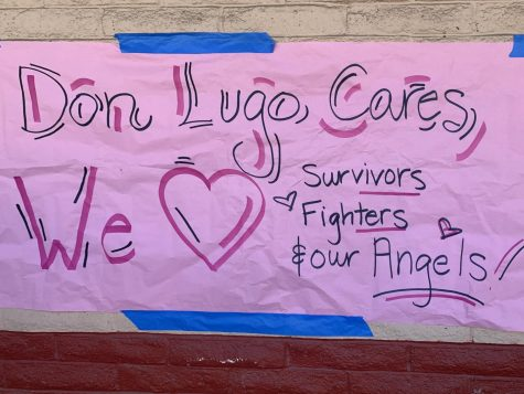 Don Lugo shows their support for all breast cancer survivors, fighters, and angels. Students were asked to Pink Out on Friday, October 22 in recognition of breast cancer awareness. Students could be seen wearing dainty pink ribbons, and vibrant pink shirts that paired well with pink socks; Don Lugo did not disappoint !